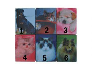 3115-D10 Plastic Cigarette Case, Cat and Dog