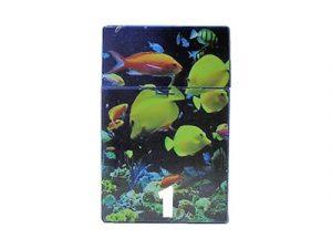 3115-D18 Plastic Cigarette Case, Ocean Design