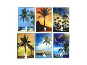 3117-D13 Plastic Cigarette Case, Beach Palms