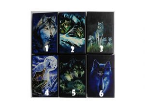 3117-D17-2 Plastic Cigarette Case, Wolf Design