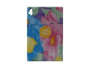 3117-F1 Plastic Cigarette Case, Flower Design