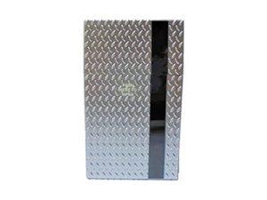 3117-M25 Plastic Cigarette Case, Metal Mirror