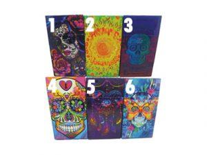 3117-M33 Plastic Cigarette Case, Candy Skull