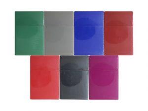 3114-S Plastic Cigarette Case, Solid Colors
