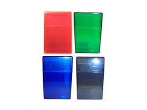 3114-T Plastic Cigarette Case, Transparent Colors