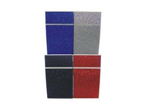3116-A1 Plastic Cigarette Case, Metal Glitter