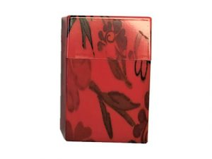 3116-F2 Plastic Cigarette Case, Flowers