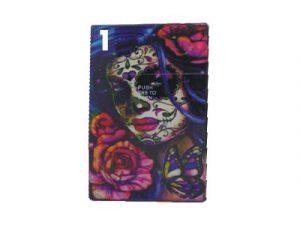 3116-M33 Plastic Cigarette Case, Candy Skull