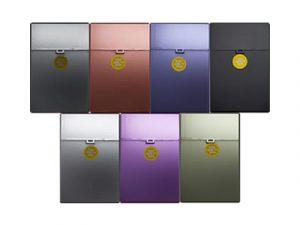 3116-MET Plastic Cigarette Case, Metallic Designs