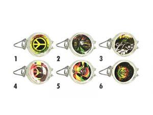 GJ001 Rasta Designs Small Air Tight Glass Jar