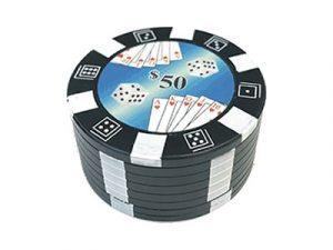 GR3POKLG Large Metal Grinder Poker Chips