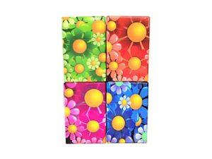 3115-F4 Plastic Cigarette Case, Flower Designs