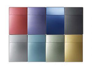 3115-MET Plastic Cigarette Case, Metallic Colors