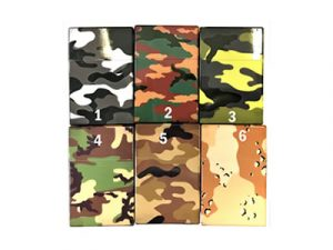 3117-C Plastic Cigarette Case, Camouflage Designs