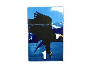 3117-D12 Plastic Cigarette Case, Eagles