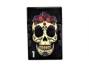 3114-CSK Plastic Cigarette Case, Candy Skull