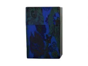 3114-F2 Plastic Cigarette Case, Flower Design