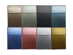 3114-MET Plastic Cigarette Case, Metallic Colors