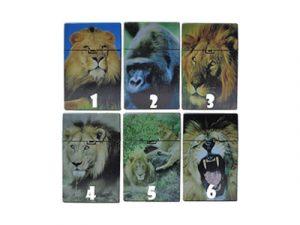 3116-D16 Plastic Cigarette Case, Lions