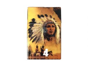 3116-IN Plastic Cigarette Case, American Indian
