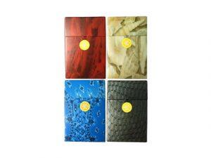 3116-M2 Plastic Cigarette Case, Marble Design