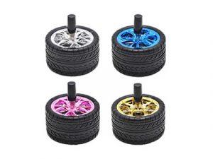 ASHSTIRE2 Black Rubber Tire Ashtray