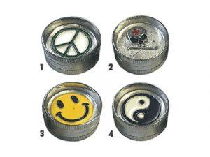 GR2MINI Mini Metal Grinder Assorted Designs 1″ Diameter