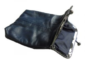 3202SBLUE Blue Leather Pouch