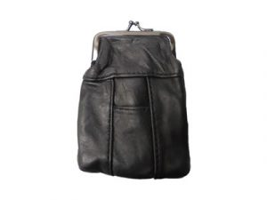 3202SBK Black Leather Pouch
