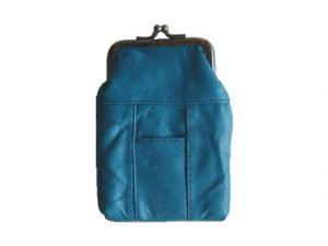 3202STURQ Turquoise Leather Pouch