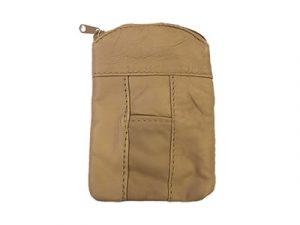 3202ZIPBR Zipper Leather Pouch