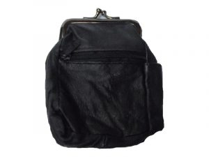 3204ABK Zipper and Snap Pouch