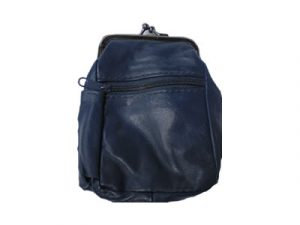 3204ABLUE Zipper and Snap Pouch