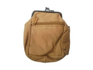 3204ALTBR Zipper and Snap Pouch