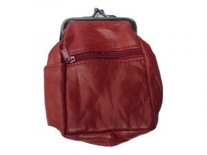 3204ARED Zipper and Snap Pouch