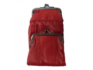3212RED Deluxe Leather Pouch