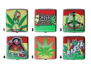 3102L20RASTA Metal Cigarette Case