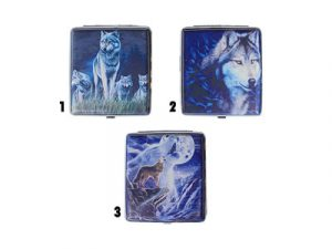 3101L20WOLF2 Metal Cigarette Case