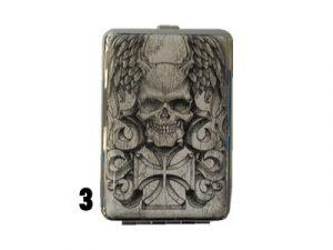 3102L12SKULL Metal Cigarette Case